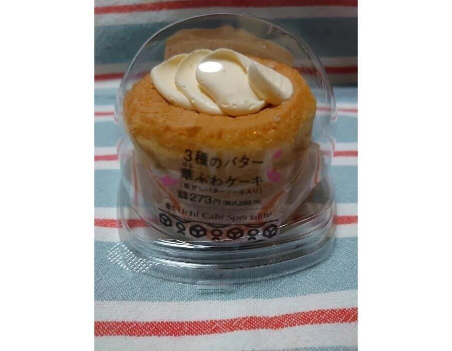 ローソン「3種のバター華ふわケーキ」